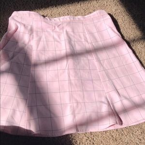 Bubble gum pink american apparel skirt